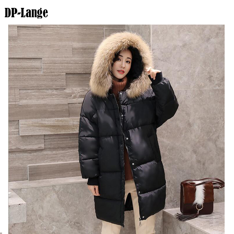 2017 Winter Jacket Women Faux Fur Collar Hooded Cotton Padded Winter Coat Women's Thick Warm Long Parkas Female manteau women s thick warm long winter jacket women parkas 2017 faux fur collar hooded cotton padded coat female cotton coats pw1038