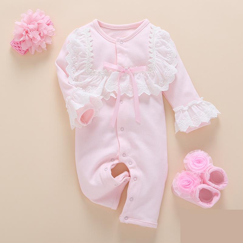 Newborn Rompers Baby Costume cotton Girl Outfits Long Sleeve Girl clothing  Infant Jumpsuit 2018 Spring Autumn Girls Clothes cotton cute red lips print newborn infant baby boys clothing spring long sleeve romper jumpsuit baby rompers clothes outfits set