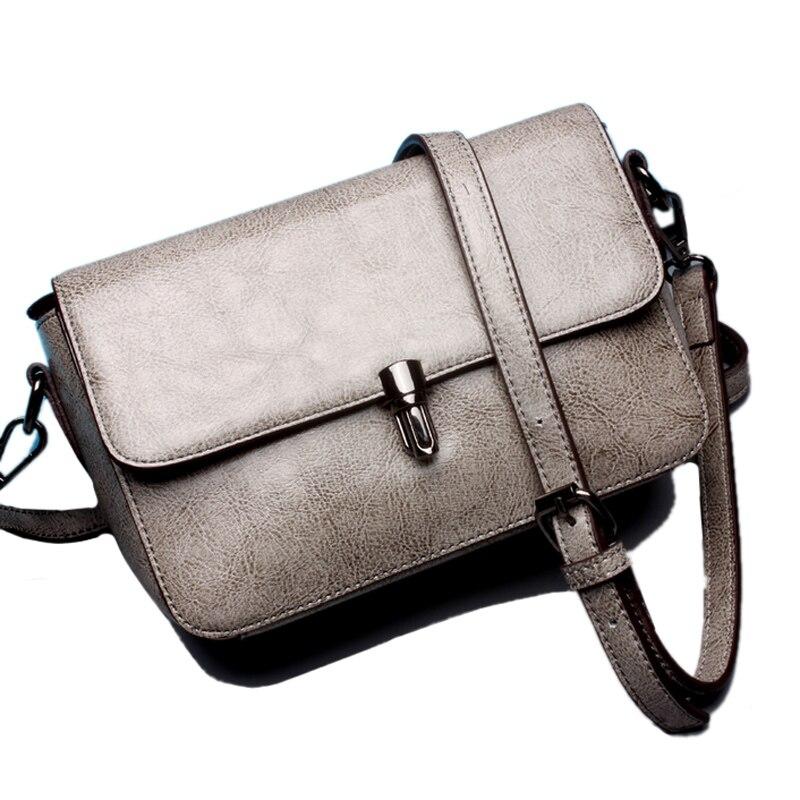 ФОТО High quality cattlehide genuine leather Wax vintage style small flaps cube messenger bags forl ladies women handbags crossbody
