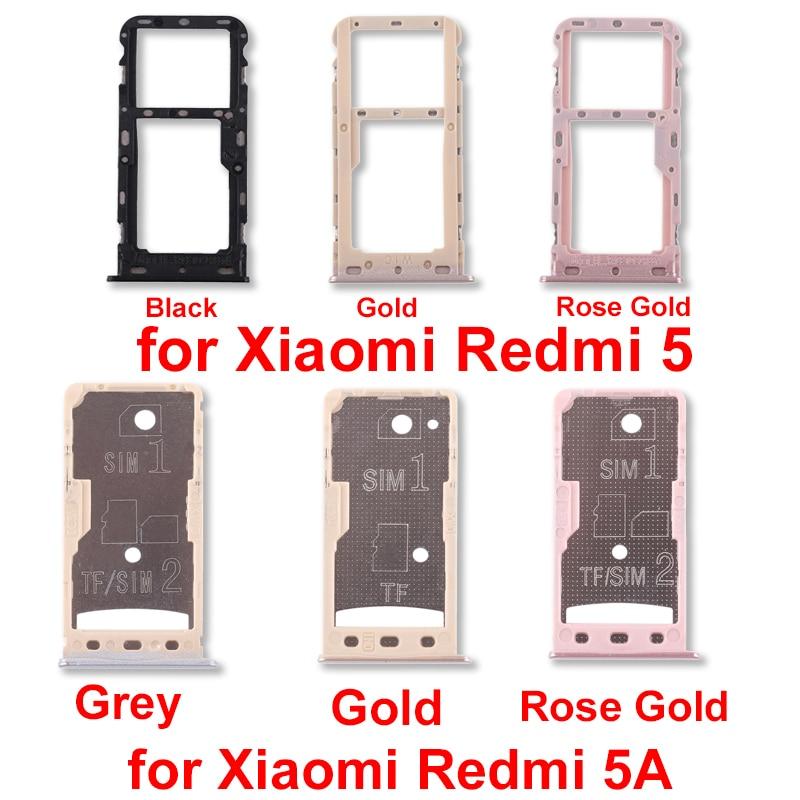 New For Xiaomi Redmi 5 Redmi 5a 2 Sim Card Tray Micro Sd Card Tray Repair Parts Sim Card Adapters Aliexpress
