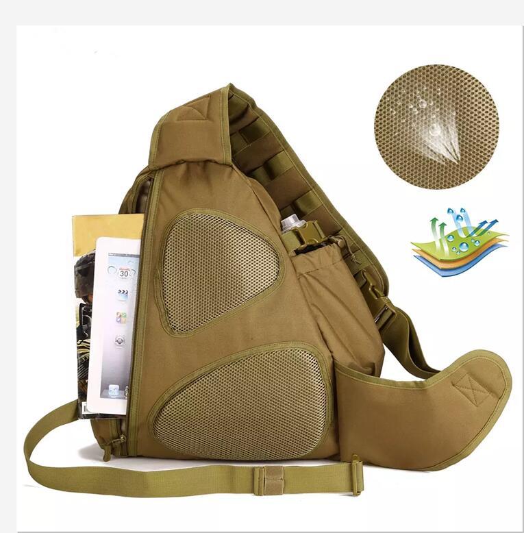 14 pouces sacs à dos d'ordinateur portable tactique unique épaule Molle sac à dos en Nylon imperméable chasse en plein air randonnée sacs de sport - 6