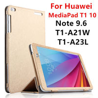 Case For Huawei MediaPad T1 10 PU Protective Smart Cover Leather Tablet For HUAWEI Note 9