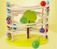 Large Particle Animal Ball Tower Track Children Toy Ball Tower Educationsl Learning Gift