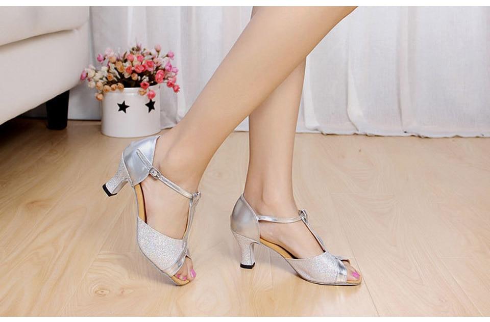 MoveFun New Glitter Women Latin Dance Shoes Tango Salsa Party - Kondisko - Foto 5