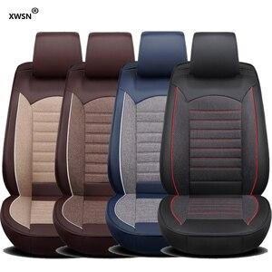 Image 3 - pu leather linen car seat cover for hyundai getz solaris Elantra Tucson veloster creta i20 i30 ix35 i40 Car accessories