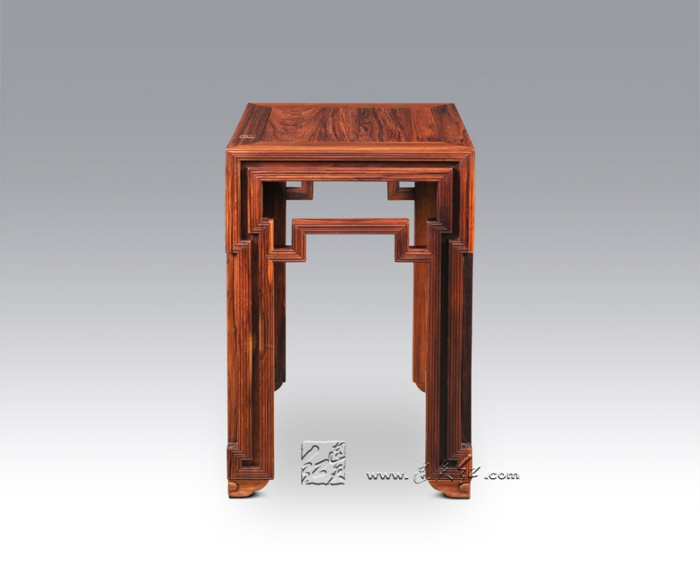 Flower Stand Rosewood Home Living Room High Stools Solid Wooden Coffee Tea End Table Chi ...