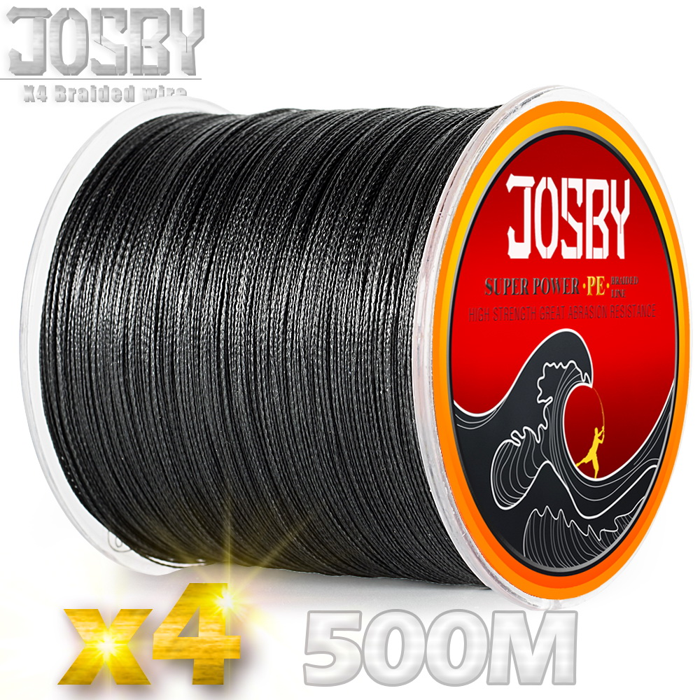 JOSBY 4 Strand Braided classic black Super Strong Sea Carp Fishing  Line Multicolor  Saltwater Thread 10-85LB  1.0-8.0# Good