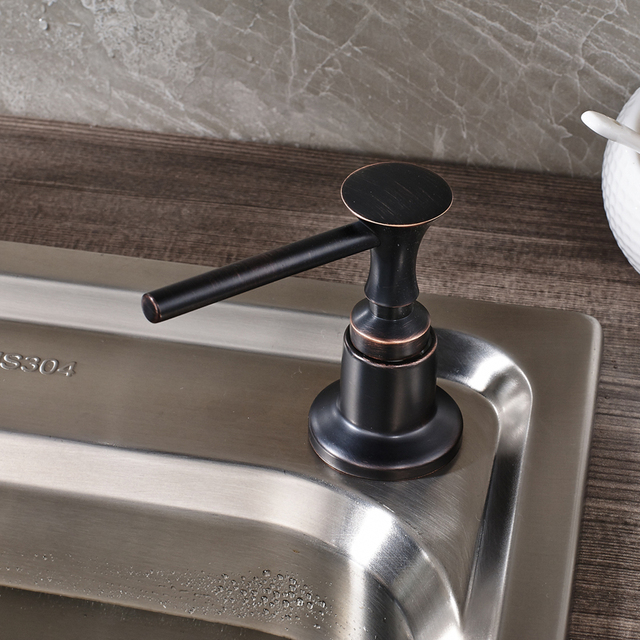 Free Shipping Black Color Kitchen Faucet Accessories Black Handle Plastic  Bottle Sink Soap Dispenser