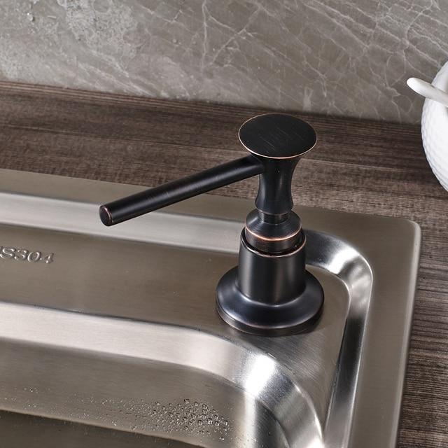 US $16.38 37% OFF Kostenloser Versand Schwarz Farbe Küche Wasserhahn  Zubehör Schwarz Griff Kunststoff Flasche Waschbecken Seifenspender in  Kostenloser ...