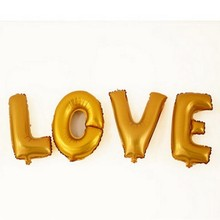 Golden letter balloons 1pc silver foil LOVE ball decorations wedding ballon birthday party supplies inflatable toy