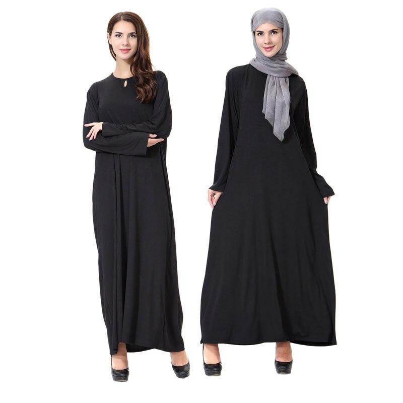 Traditional Abaya Dubai Kaftan Moroccan Turkish Hijab Dress Black Muslim Dresses Robe Femme Long Sleeve Islamic Clothing Burqas