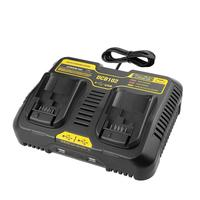 DCB102 Li ion Battery Dual USB Port Charger fast charging For DeWalt 10.8V 12V 14.4V 18V 20V DCB101 DCB200 DCB140 DCB105 DCB200