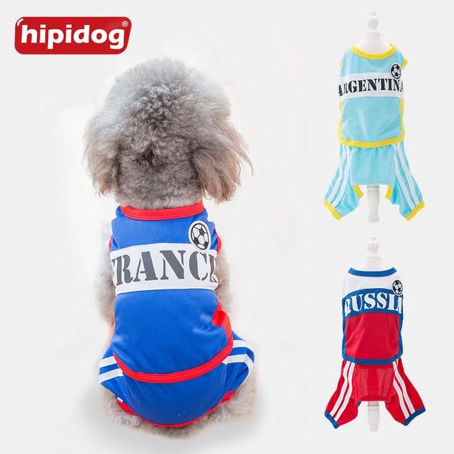 Hipidog perro de moda camisetas transpirable camiseta ropa de primavera traje de verano deportes camisas traje de perro pequeño gato de peluche