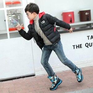 Image 5 - Детские ботинки для мальчиков; зимние ботинки для девочек; Водонепроницаемая детская обувь для мальчиков; зимняя теплая детская обувь; Студенческая модная детская обувь для детей