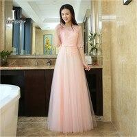 LOVONEY Floor-Length A-Line Half Sleeves Long Evening Dress 2019 Formal Dress Evening Gown Robe De Soiree T414B Evening Dresses