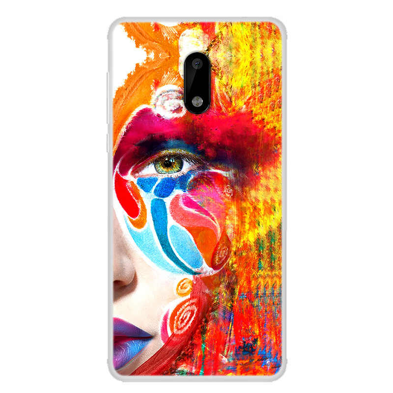 מקרה sFor nokia 6 מקרה Coque עבור nokia 6 מקרה כיסוי אופנה ציור טלפון מקרה עבור nokia 6 2018 חזרה כיסוי Fundas
