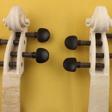 1 шт. резной студент клен Скрипки Средства ухода за кожей шеи+ Ebony колышки 4/4 размер, Скрипки Запчасти