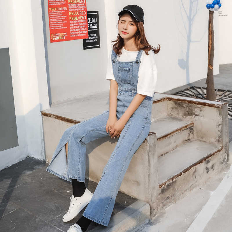 ed782d4007bf Brand Jeans Women Jumpsuit Denim Romper Overalls Casual Trousers Vaqueros  Basic Denim Pants Wide Leg Female