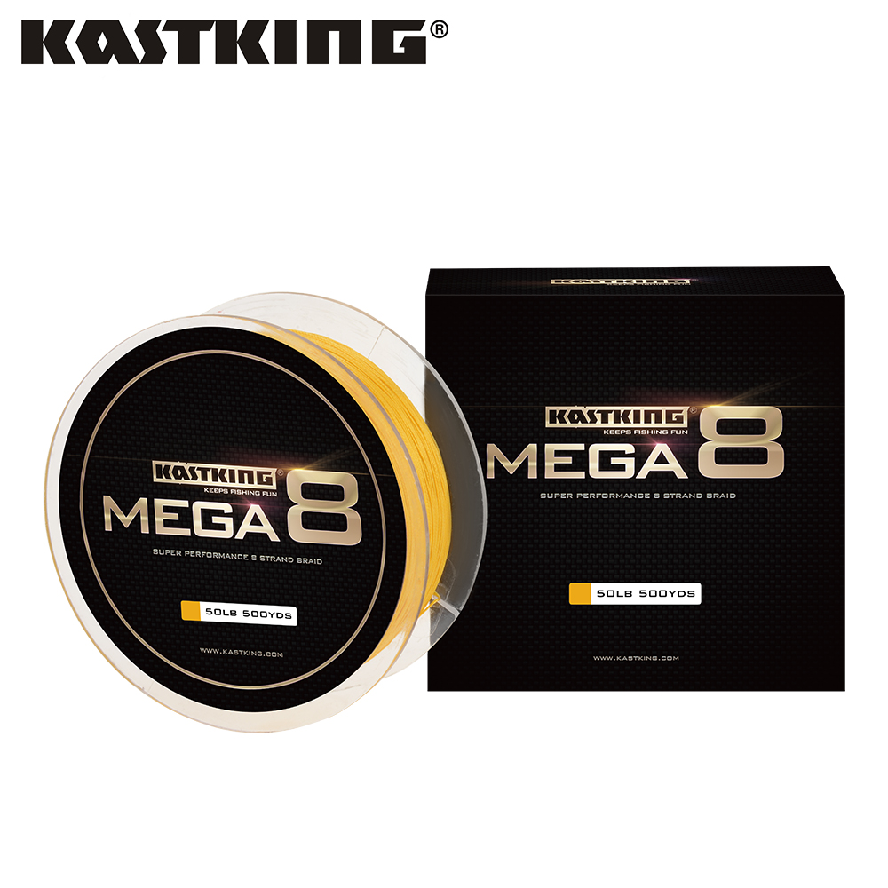 KastKing Mega8 457m/500Yds 10-80LB 8 Strands PE Braided Fishing Line Multifilament Fishing Line for Saltwater Fishing