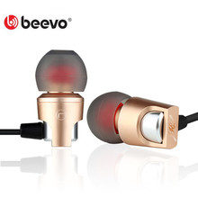 Original BEEVO X1 Metal Earphone Waterproof Noise Cancelling Headset Ear 3D Bass Surround Sound For Xiaomi Samsung Iphone 2Color