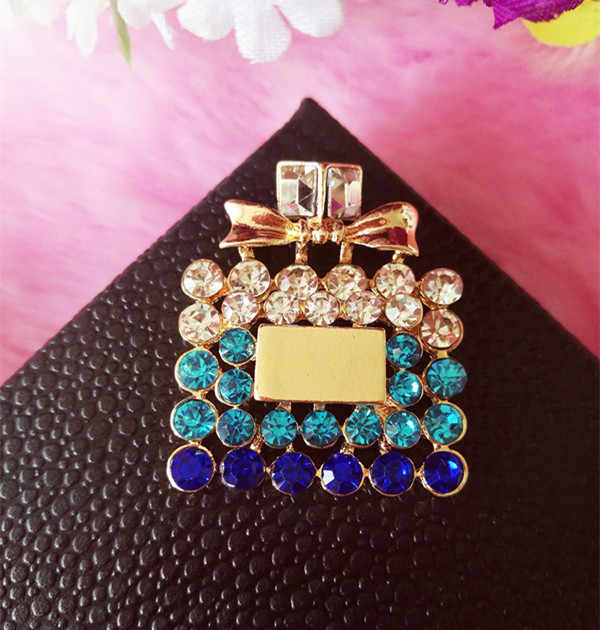 ... 6pcs per lot Alloy Crystal color Rhinestone Perfume Cell Phone Case DIY  Decoration 2d199f425372