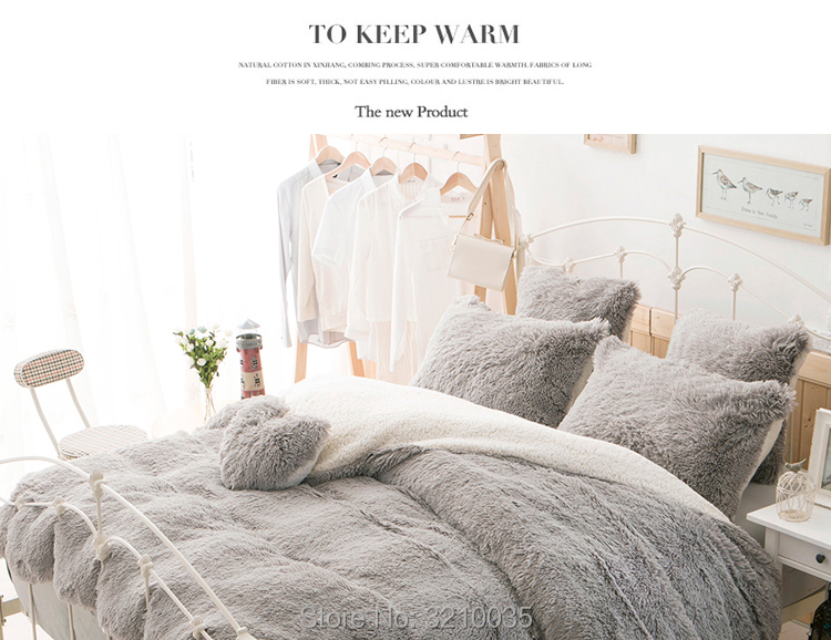 HTB1P3aDmHYI8KJjy0Faq6zAiVXaL - Velvet Mink or Flannel 6 Piece Bed Set, For 5 Bed Sizes, Many Colors, Quality Material
