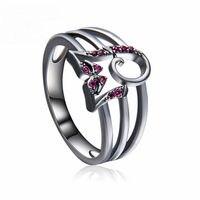 2015 Nowych Moda biżuteria pierścień, Michael Jackson Historii World Tour Pełna Czarnego Złota wypełniony Różowy moda Pierścienie