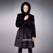 2016 winter new imitation rabbit fur hooded coat Ms. Korean sweater artificial