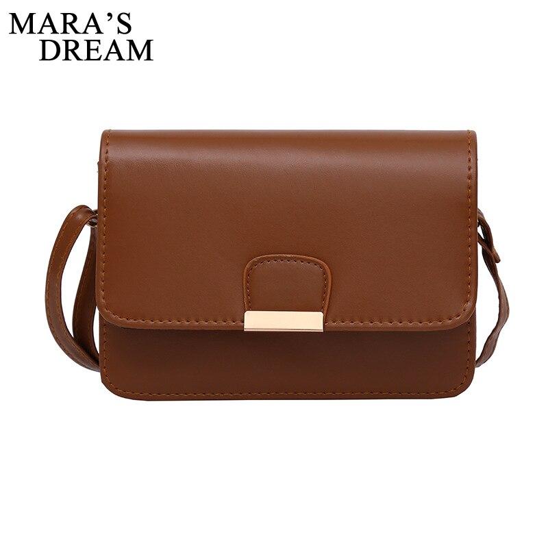Mara's Dream Women Cute Totes Handbag Hotsale PU Leather Solid Color Ladies Purse Flap Casual Messenger Crossbody Shoulder Bags