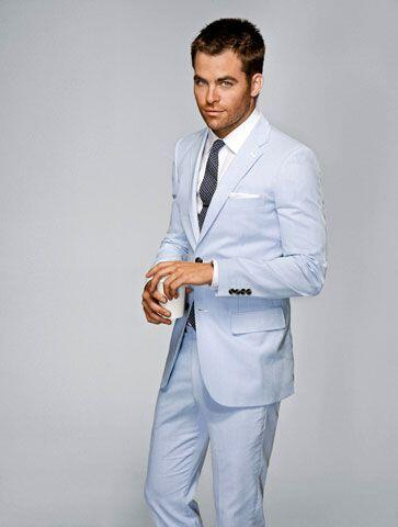 b4506ca7fa73 Light Blue Linen Groom Tuxedos Casual Men's Beach Wedding Prom Suits 2  Pieces Best Man Groomsman
