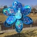 Двухслойная ветряная мельница с павлином и лазерными блестками  цветной Спиннер для домашнего декора сада  детская игрушка # T025 #