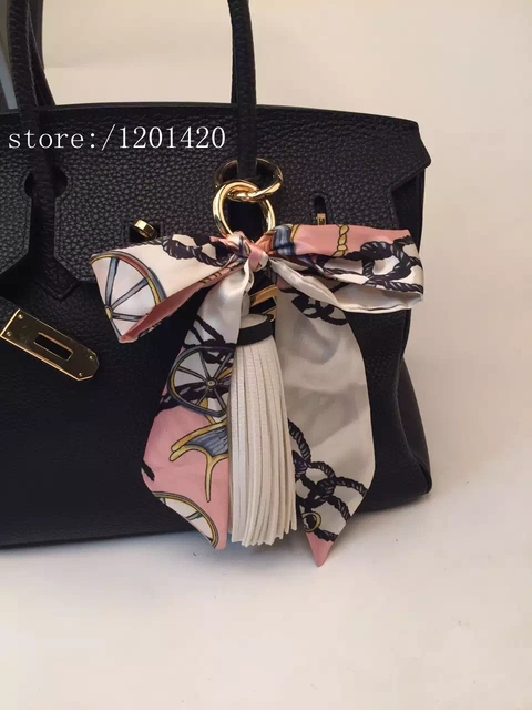 b4411c5ec16b Tassel Silk Ribbon Purse Charm Handbag Accessories Tote Charm Bag Bugs Charm  Handbag Charm Keychains Cute