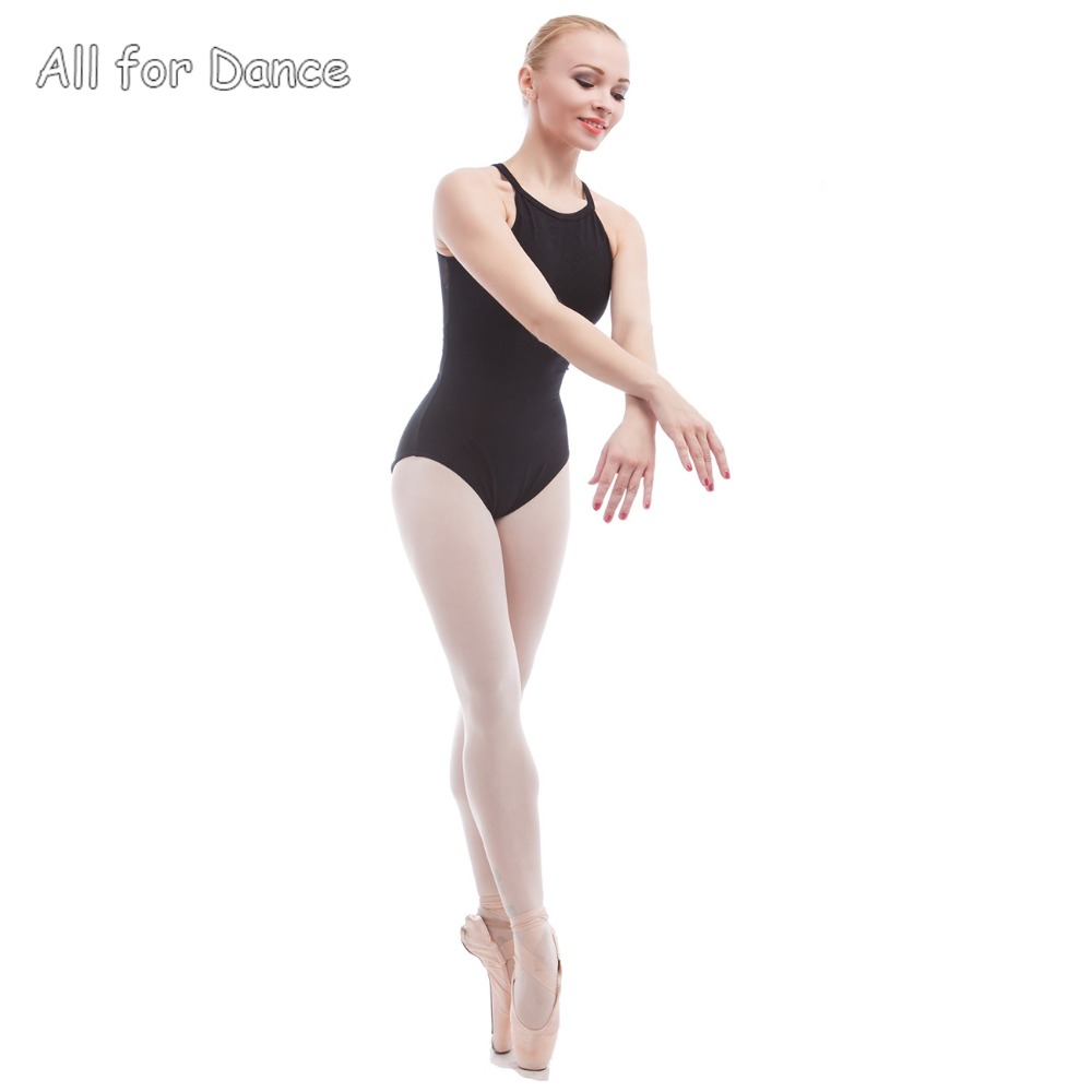 Black spandex dance unitard gymnastics and dancewear - Adult Ballet Leotards Black Cotton Spandex Dance Wear Gymnastics Leotard For Dance Camisole Ballet Body Suit Shapewear In Ballet From Novelty Special Use