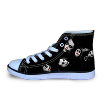 a49e8aec77b7 Black Canvas Shoes for Men High-Top Street Shoes Funny Harley Quinn and Joker  Printed