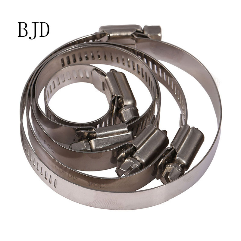 10pcs Stainless Steel Drive Hose Clamp Tri Clamp Adjustable Fuel Line Pipe Worm Gear Clip Clamp Tube Fasterner 8mm Spring Clip 6 8mm refrigerator parts copper fitting clip universal coil pipe clip