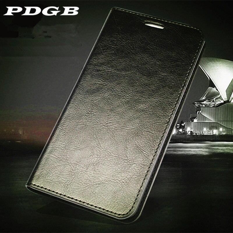 PDGB Carteira Estojo De Couro Genuíno para Huawei P Smart Plus 2019 Nova 3 3i 4 Honra 8X 8C Livro Jogo retro Tampa Do Caso Da Aleta Macio