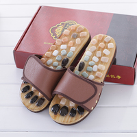 Pebble Stone Foot Massage Slippers Reflexology Feet Elderly Acupuncture Health Shoes Sandals Slippers Healthy Massager Foot