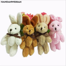 New 1PCS 11CM Rabbit Little Plush TOYs DOLL DIY handmade jewelry Garment & Hair Accessories Decor Toys Dolls for gift
