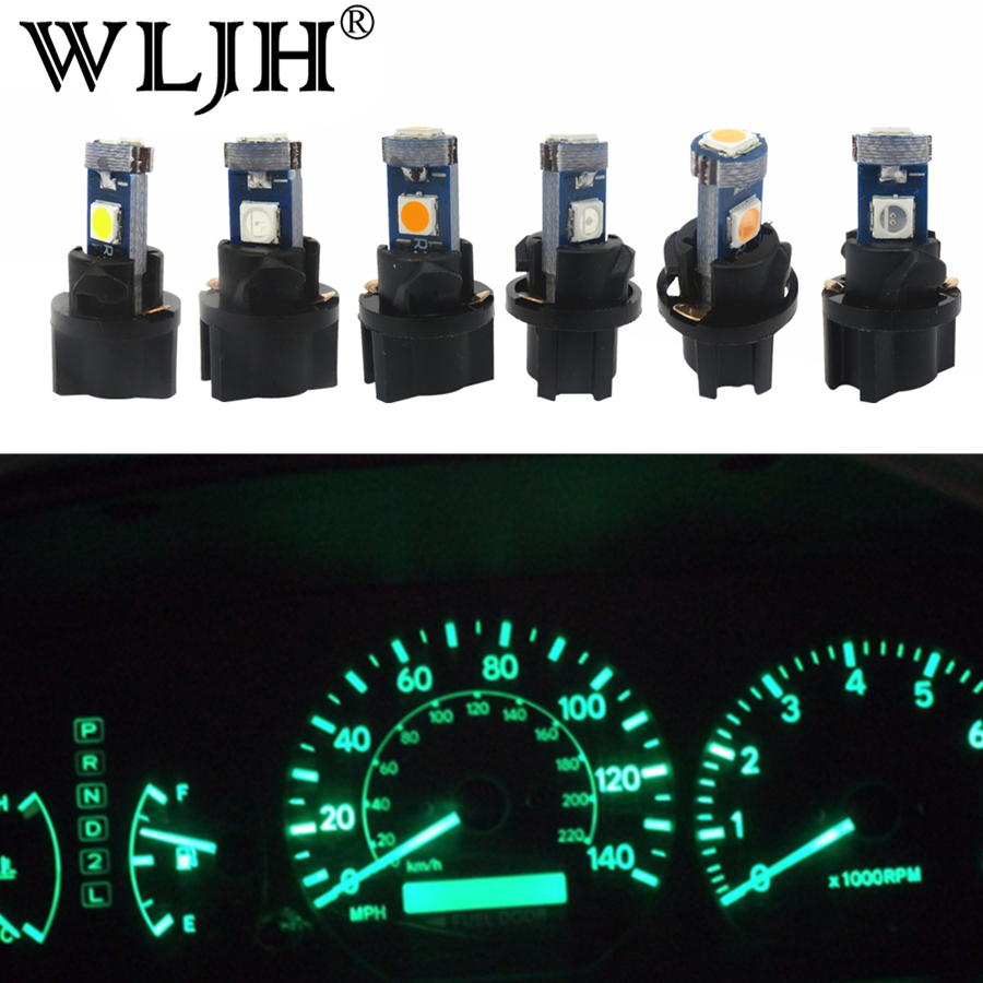 10x T5 12V White LED Car Wedge Dashboard DASH Gauge Instrument LED Light Bulb E7