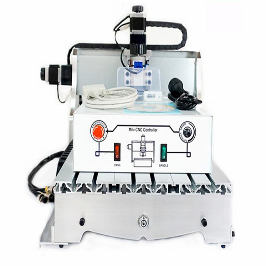 1pc CNC 3040 T-D300 engraving machine, CNC router mini cnc milling machine +4pcs cnc frame eur free tax cnc 6040z frame of engraving and milling machine for diy cnc router