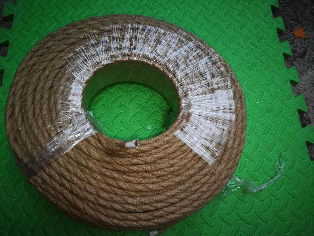 3m,5m,10m 2x0 75MM Vintage Rope Wire Twisted Cable Hemp Rope