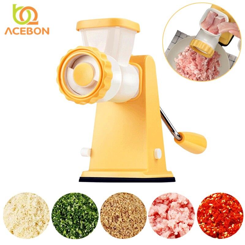 Picador Moedor De Carne Manual doméstico Portátil Triturador de Alimentos de Aço Inoxidável Utensílios de Cozinha Processador de Alimentos Moedor Máquina de Picar