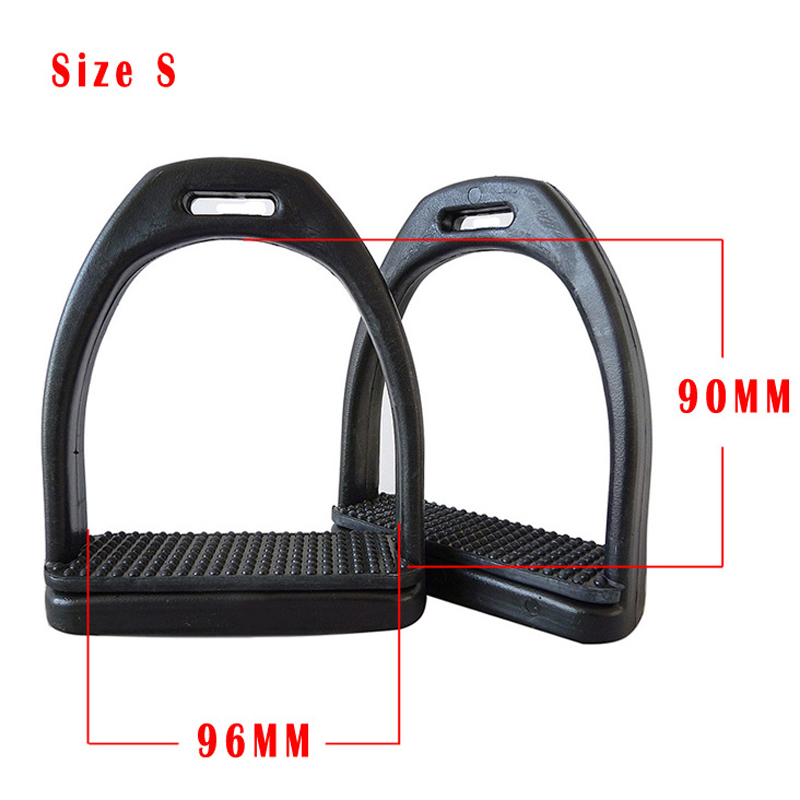 1Pair Plastic Horse Saddle English Stirrups Horse Riding Double Jointed Stirrups Safety Horse Racing Foot Equipment or Men Women-in Body Protectors from Sports & Entertainment