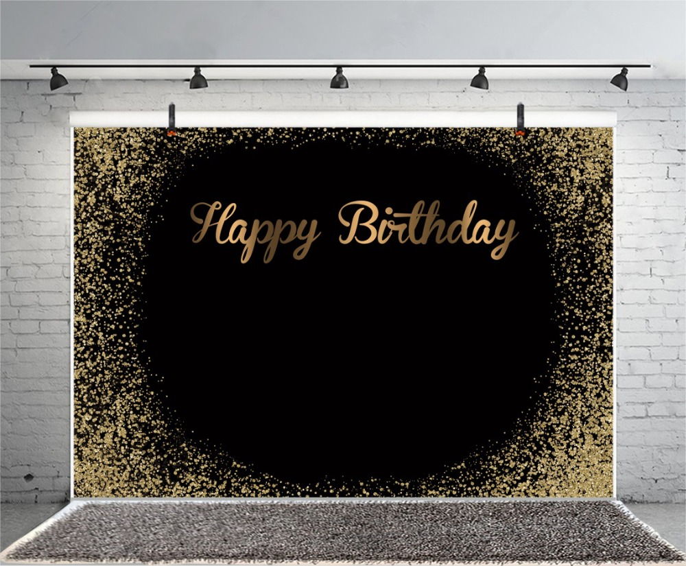 Laeacco Baby Birthday Party Dark Gold Polka Dots Child Portrait Photo Backdrops Photography Backdrops Photocall Photo Studio in Background from Consumer Electronics