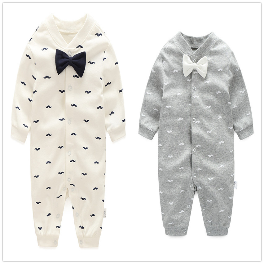 Gentlemen 0-24M new baby boy romper baby clothes jumpsuit onepiece brand toddler suit infant clothing costume 100% Cotton