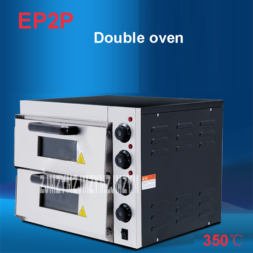 EP2P Electric Oven For Pizza 16 inch Timer for commercial use to make bread, cake, pizza 220V/50Hz Baking size 40 * 40 * 11.5CM ep1st hot sale electric pizza baking bakery oven with timer for commercial use for making bread cake pizza