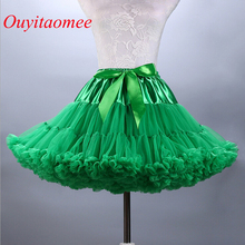2018 Hot Sale Colorfulle 투투 페티코트 무릎 길이 짧은 여자 페티코트 언더 셔츠 튜울 웨딩 드레스 페티코트 실제 샘플