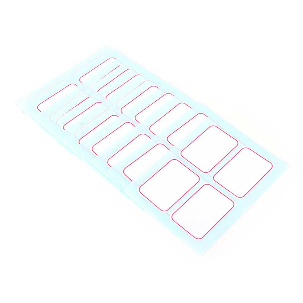12 листов/Упаковка 35x50 мм пустые этикетки для заметок огромные самоклеящиеся клейкие этикетки записываемые наклейки для имени