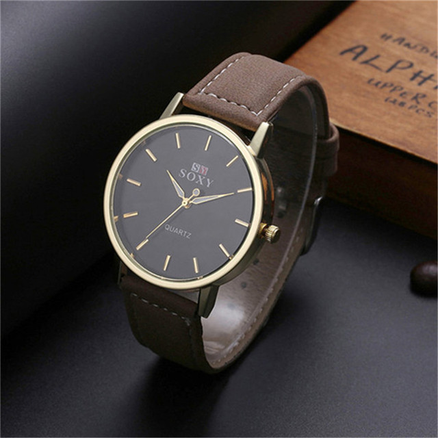 leather watch watches black the format rose original face horse gold