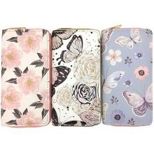 KANDRA 2019 Summer Butterfly Print Women Long Wallets PU Leather Flower Credit Card Holder Phone Bags Dropshipping